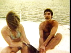 Couple fucking on a boat
