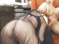 Cum on her silky veil
