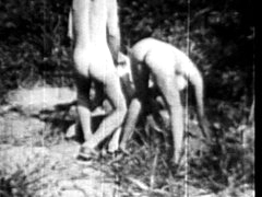 Vintage outdoor threesome