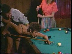 Pool table is big sufficiently to fuck two