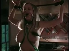 bondage, dildoing and stunning cum swallow